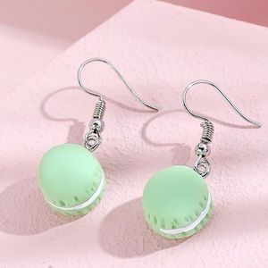 Any 2/$20! Pastel Green Macaron Drop Earrings